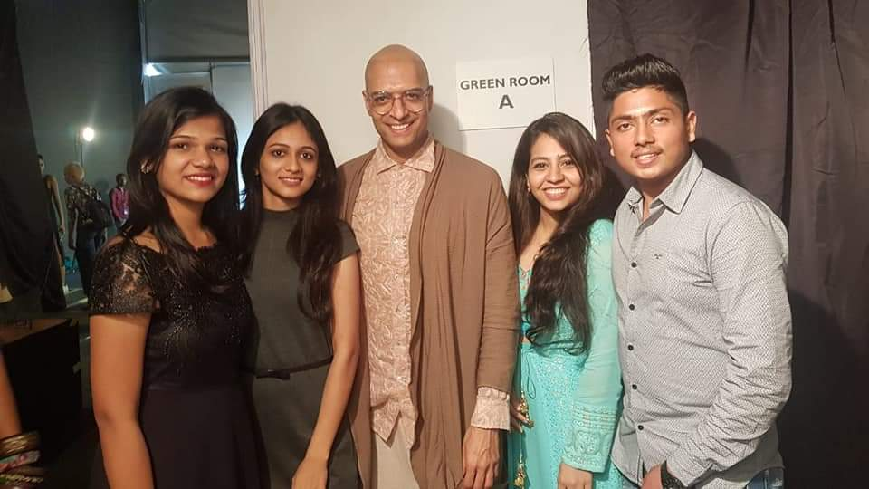 Our student with Mr. Milind Gaba